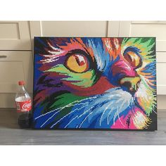 Rainbow cat perler bead art by artbyfredd