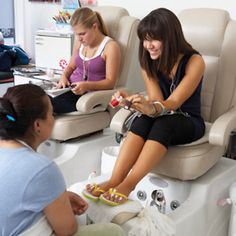 Pedis- especially when I'm with one or both of my sisters or niece!!