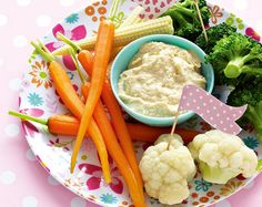 Crudité platter recipe to put a smile on your toddler's face.