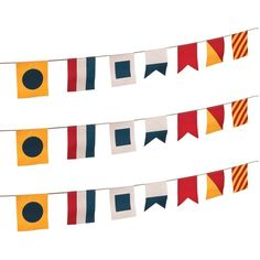 Nautical Flags Plastic Pennant Banner