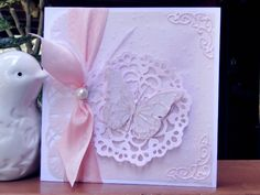 Doily butterly card by jasonw1 - Cards and Paper Crafts at Splitcoaststampers