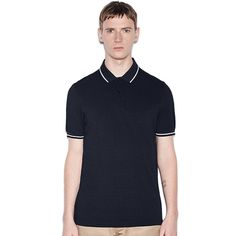 Fred Perry Polo Shirt- Service Blue Black Oxford