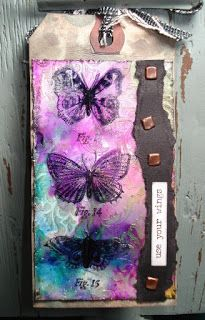 My stuff, my life: Use your wings - (Tim Holtz 12 tags of 2015 - September, version 5)...