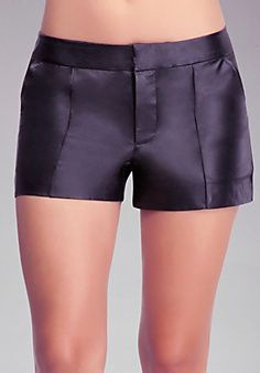 Carrie Leather Trouser Shorts