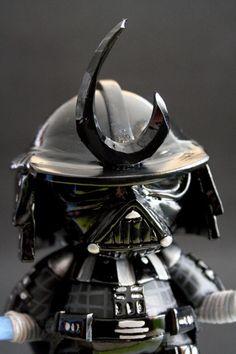 "SpankyStokes.com | Vinyl Toys, Art, Culture, & Everything Inbetween: Avatar666's ""Darth Vader Samurai"" custom Mini Munny!"