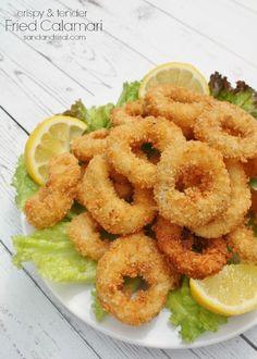 Ultimate Panko Fried Calamari - crispy & melt in your mouth tender. (Printable Recipe & Video Tutorial)