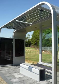 Vidurglass Photovoltaic Safety Glazing in Pergolas, Canopies or other Urban Furniture Applications ~ Global Glass Solutions:
