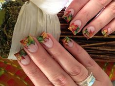 Autumn leaves - Nail Art Gallery by www.nailsmag.com #nailart