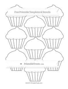 Free Printable Small Cupcake Template