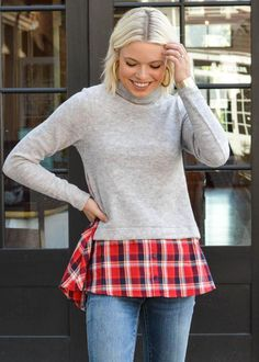 f3524a0a3f THML Wallis Layered Sweater Sweater Layering