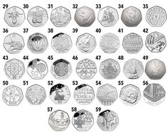 The most valuable and rarest 50 pence coins - do you have one worth in your spare change? Rare 50p Coins Value, 50p Coin Value, Rare British Coins, Rare Coins, Gold American Eagle, Coin Dealers, Valuable Coins, Coin Design, Coins Worth Money
