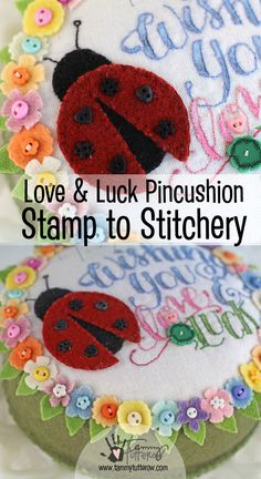 Stamp to Stitchery | Use rubber stamps to create patterns for fun appliqué and embroidery projects! | Stamps by Tammy Tutterow for Spellbinders
