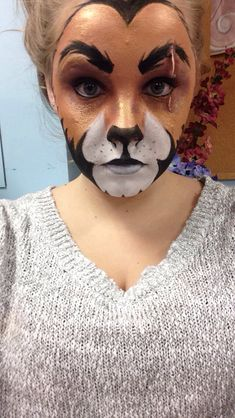 Scar from Lion King!  Face Stage Makeup