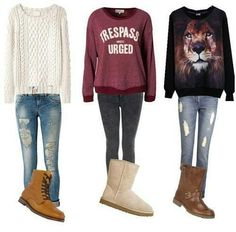 Comfy...... Yes please but the sweatshirts are UGLY!!!