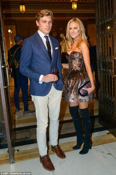 Thigh's the limit:The former Made In Chelsea star added height to her slender frame with ...