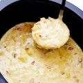 Slow Cooker Potato Soup -- so delicious, and made extra-easy in the crock pot!   gimmesomeoven.com