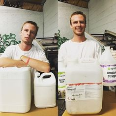 Cleaning screens got you down? Feel as happy as Hunter with Sgreen cleaning chemicals! @frenzytees #poweringtheprint #sgreen #screenprinting #chemicals #printlife