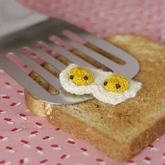 A duo of teeny-tiny nummy eggies! | These Spectacular Knitted Creatures Come From Your Wildest Imagination.