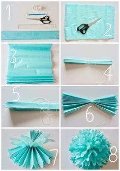DIY (do it yourself) tissue paper flower, trendy decor, flower in paper . - Home improvement (do it yourself) tissue paper flower, trendy decor, flower in paper …… – Hea - Mason Jar Crafts, Mason Jar Diy, Flower Crafts, Diy Flowers, Flower Diy, Handmade Flowers, Origami Flowers, Flower Wall, Birthday Decorations