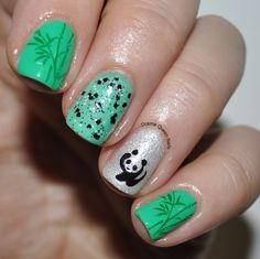 Cute chinese nail art