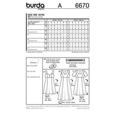 Burda Style Pattern 6670 Misses' Dress