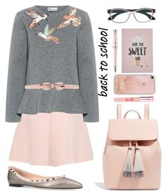 back to school by mocimoca on Polyvore featuring polyvore fashion style RED Valentino Valentino Loeffler Randall Rebecca Minkoff Herrlicht Poppin Hoez Montegrappa clothing.
