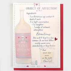 Love Potion Greeting Card #valentines #love #greetingcard