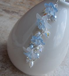 Baby Blue Lucite Flowers Bracelet  Lucite Flowers by Oogle on Etsy, $55.00