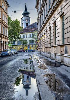Street next to the market (Budapest, Hungary)