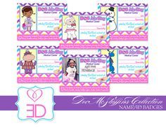 Doc McStuffins Collection - Printable Name or ID Badges