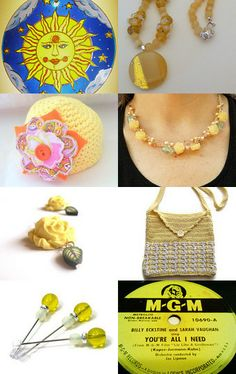 A Little Sunshine on This Cloudy Day by Bonnie Sernesky on Etsy--Pinned with TreasuryPin.com