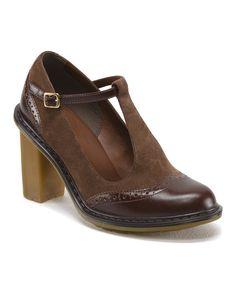 Love this Dark Brown & Golden Brown Karishma Leather Pump - Women by Dr. Martens on #zulily! #zulilyfinds