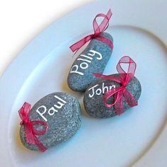 Segnaposto matrimonio eco-friendly sassi. Wedding placeholder with stone. #wedding