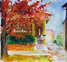 Take a look at our bungalow member Barbara Yaross' artwork.  Such a beautiful perspective on Chicago Bungalows.