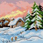 Schemat Cztery pory roku - zima