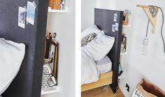 Tuto pour fabriquer une tête de lit avec des rangements intégrés - 18h39.fr