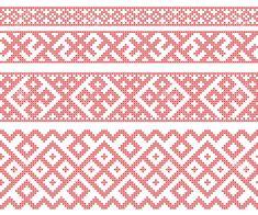 Illustration of Seamless Russian folk patterns, cross-stitched embroidery imitation. Patterns consist of ancient Slavic amulets. Russian Embroidery, Hardanger Embroidery, Types Of Embroidery, Folk Embroidery, Cross Stitch Embroidery, Machine Embroidery, Embroidery Designs, Hand Embroidery Patterns, Knitting Patterns