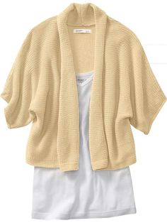 Kimono-sleeved shrug sweater from Old Navy. http://oldnavy.gapcanada.ca/browse/product.do?cid=70728&vid=1&pid=897433&scid=897433023