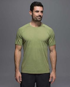 Metal Vent Tech SS - heathered spiced olive Mens Tops 15f56c0ef951