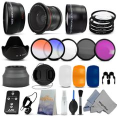 Essential Lens Set  Filter Kit for 58MM Canon Rebel T4i T3i T3 T2i T1i XSi XS