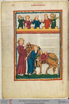 Cod. Pal. germ. 848  Große Heidelberger Liederhandschrift (Codex Manesse)  Zürich, ca. 1300 bis ca. 1340 Folio: 413v