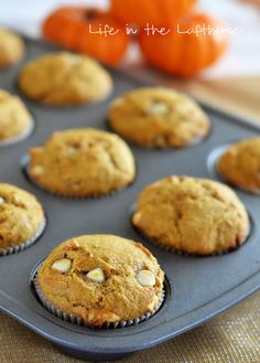 White Chocolate Chip Pumpkin Muffins - Life In The Lofthouse