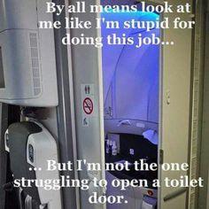 We See You! Idiot! #cabincrew #cabinlife #cabincrewproblems #airhostesses #airhostessproblems #flightattendant #flightdeck #crew #aviation #emirates #etihad #lufthansa #virgin #work by Crewiser.com
