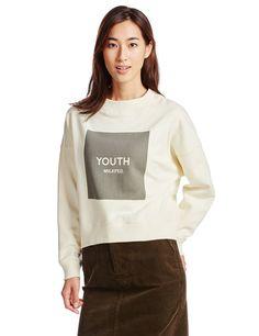 (ミルクフェド)MILKFED. SWEAT TOP YOUTH 03153202 WHITE ONE SIZE : 服&ファッション小物通販 | Amazon.co.jp
