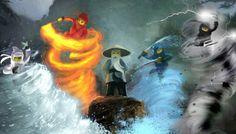 Original Ninjago concept art