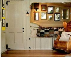 Who doesn't love a cubby bed!  Great way to utilize space too