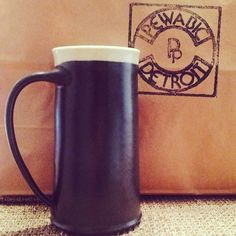 """Detroit's Pewabic Pottery Will Soon Produce a Beer Tankard:  Yes, I know...it isn't really all that """"pimp"""" but I grew up in Toledo and don't actually hate Detroit.  This would be nice to have in my bar area."""