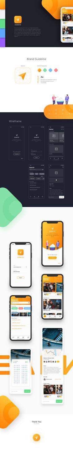 Evento App Design on Behance