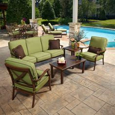 1700 Riviera 5 Piece Deep Seating Set, This Color No Motion, No Curved · Wicker  FurnitureOutdoor ...