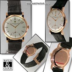 Vacheron & Constantin Ref.4667 calibro 1001, Carica Manuale, cassa in oro rosa, Ø32mm. Cinturino in pelle.